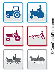 Farmer symbol vector set - Vector set of different farmer...