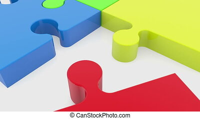 Four puzzle pieces