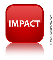 Impact special red square button - Impact isolated on...