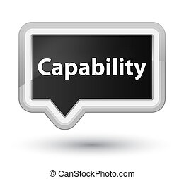 Capability prime black banner button - Capability isolated...