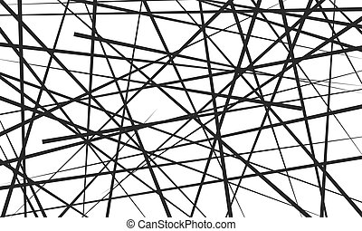 Chaotic lines, Abstract geometric pattern