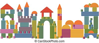 Toy Blocks City Skyline - Toy blocks city skyline - fabulous...