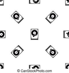 HDD pattern seamless black - HDD pattern repeat seamless in...
