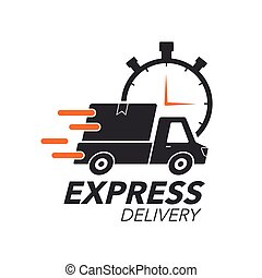 Express delivery icon concept. Pickup with stop watch icon...
