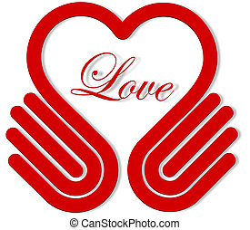 Hands heart  Love symbol illustration