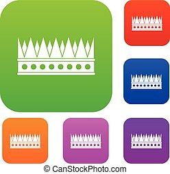 Regal crown set color collection - Regal crown set icon...
