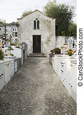 Old country cemetery - Quiet and old country cemetery with...