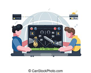 Earn money in online computer game. Play in virtual world....