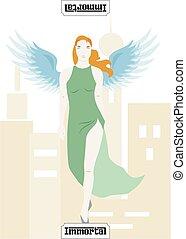 mafia card immortal - the illustration - card for mafia -...
