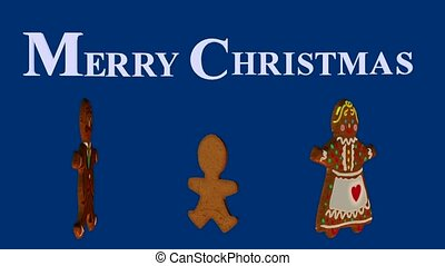 Christmas Cookies - Christmas cookies on a blue background