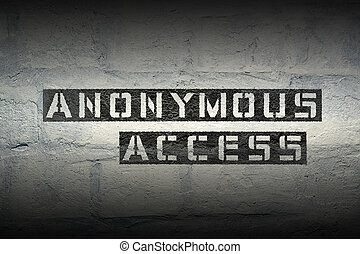 anonymous access gr - anonymous access stencil print on the...
