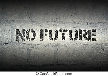 no future gr - no future stencil print on the grunge white...