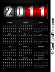 2011 New Year counter calendar