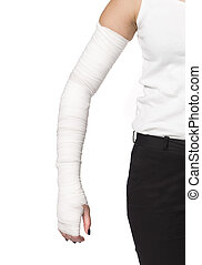 Bandages on an arm