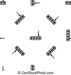 Router pattern seamless black - Router pattern repeat...