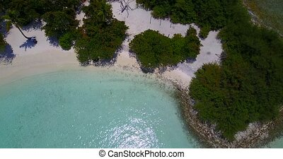 v05859 Aerial flying drone view of Maldives white sandy...