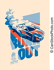 Burnout car, Japanese drift sport, Street racing - Burnout...