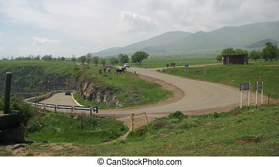 Landscapes of mountains in Armenia. The Mountain Serpentine...