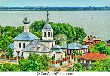 Church of St. Nicholas with Lake Nero in Rostov Veliky,...