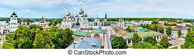 Panorama of Rostov Kremlin in Yaroslavl Oblast of Russia -...