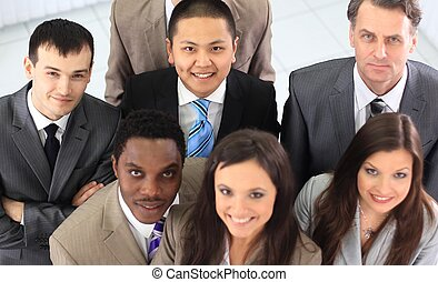 view from the top is unanimous business team - concept of...
