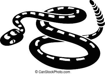 Rattlesnake icon, simple style - Rattlesnake icon. Simple...