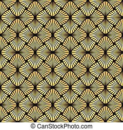 Seamless golden Art Deco vector pattern
