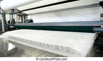 Factory produced orthopedic mattress unit with independent...