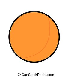 Isolated ping pong ball on a white background, Vector...
