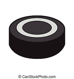 Isolated hockey puck on a white background, Vector...