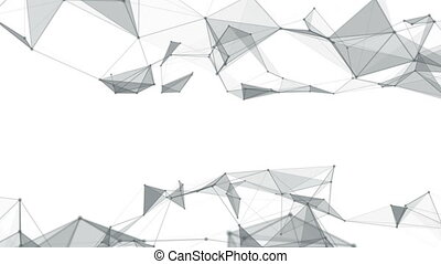 Beautiful abstract geometric background lines and dots,...