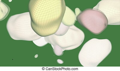 Lava Lamp Bubble 17 - A computer generated animation of...
