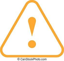 Orange triangle exclamation mark icon warning sign - Use it...
