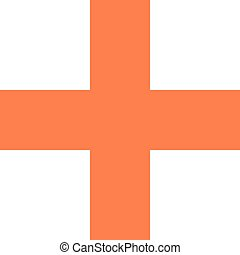 Flat plus icon criss cross sign addition button. Quick and...
