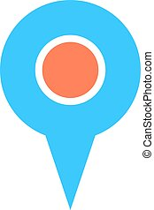 Map pin sign location icon marker point button - Quick and...