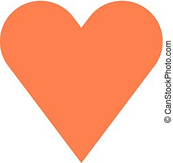 Flat heart icon favorite sign liked button. Quick and easy...