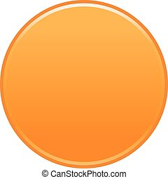 Orange circle button empty web internet icon