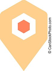 Map pin sign location icon marker point button - Flat map...