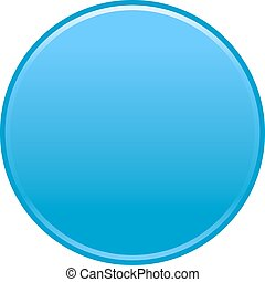 Blue circle button empty web internet icon