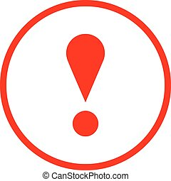 Red circle exclamation mark icon warning sign - Use it in...