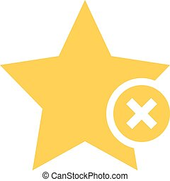 Flat star icon favorite sign bookmark button - Flat star...