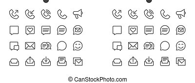 Communication Pixel Perfect Well-crafted Vector Thin Line...