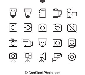 Camera UI Pixel Perfect Well-crafted Vector Thin Line Icons...