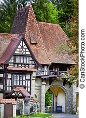 Sinaia Park, Romania, Europa - Photo of House in Sinaia...