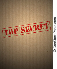 Top secret on kraft paper