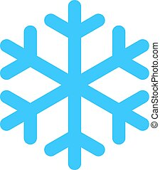Flat snowflake low temperature sign