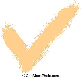 Check Mark Symbol Brushstroke Ink - Use it in all your...