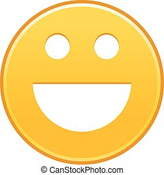 Yellow smiling face cheerful smiley happy emoticon. Quick...