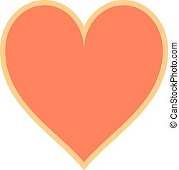Flat Heart Sign Like Icon - Use it in all your designs. Flat...