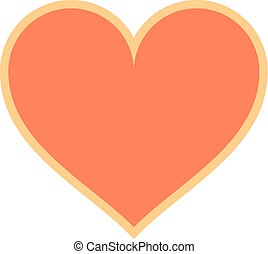 Flat Heart Sign Like Icon Favorite Button - Use it in all...